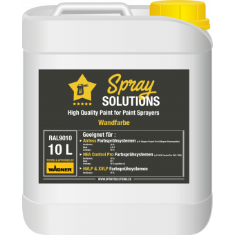 Wandfarbe RAL9010 - 10 Liter - Spray Solutions