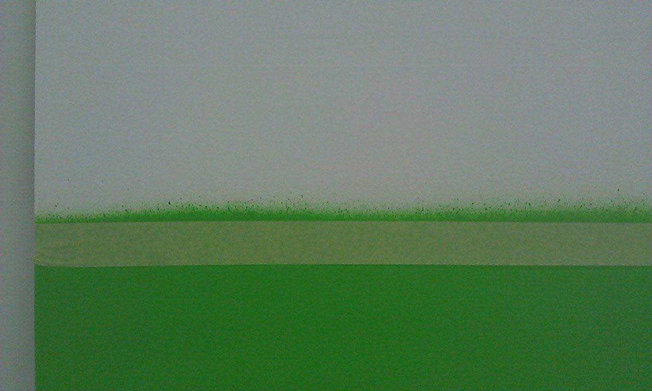 Wie stark sind Sprühnebel und Overspray beim Aufsprühen der Farbe eigentlich?